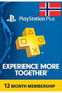 PSN - PlayStation Plus - 365 days (Norway) Subscription