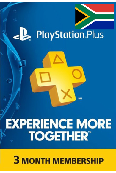 PSN - PlayStation Plus - 3 Month (South Africa) Subscription
