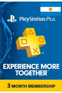 PSN - PlayStation Plus - 90 days (Argentina) Subscription
