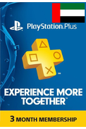 PSN - PlayStation Plus - 90 days (United Arab Emirates - UAE) Subscription
