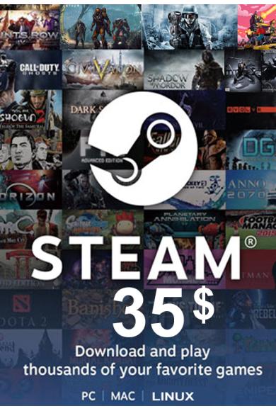 Steam Wallet - Gift Card $35 (USD)