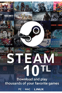 Steam Wallet - Gift Card 10 (TL) (Western Asia)