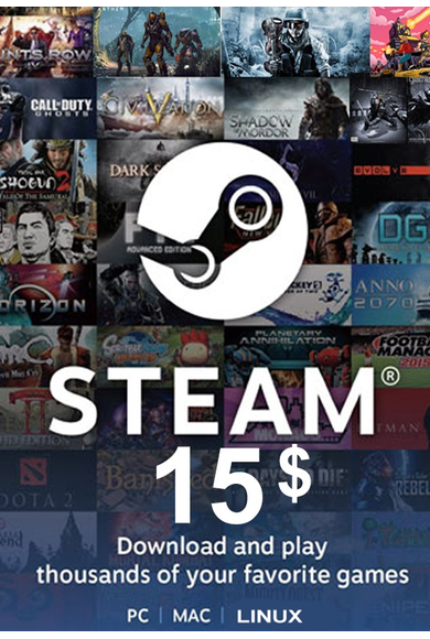 Steam Wallet - Gift Card $15 (USD)