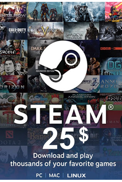 Steam Wallet - Gift Card $25 (USD)