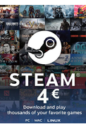 Steam Wallet - Gift Card 4€ (EUR)