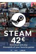 Steam Wallet - Gift Card 42€ (EUR)