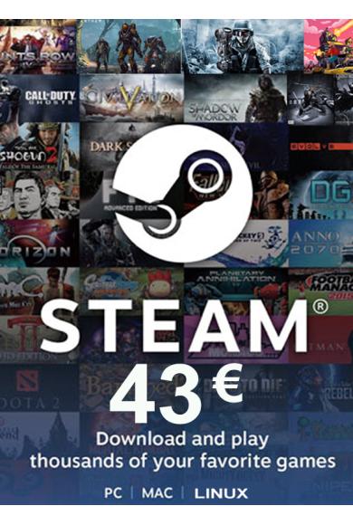 Steam Wallet - Gift Card 43€ (EUR)