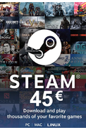 Steam Wallet - Gift Card 45€ (EUR)