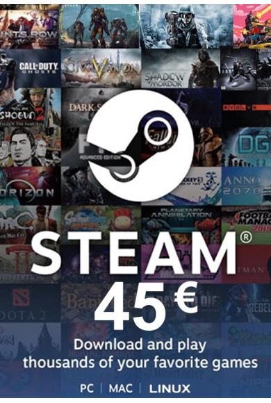 Steam Wallet - Gift Card 45€ (EUR)