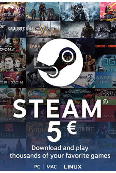 Steam Wallet - Gift Card 5€ (EUR)
