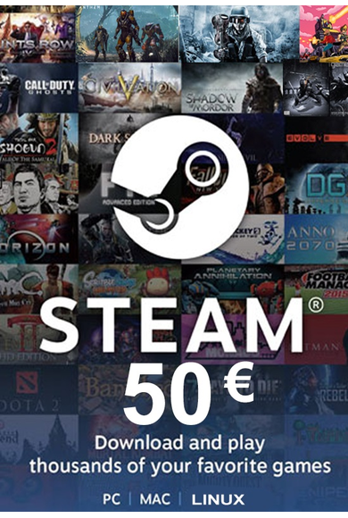 Steam Wallet - Gift Card 50€ (EUR)