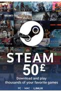 Steam Wallet - Gift Card £50 (GBP)