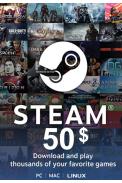 Steam Wallet - Gift Card $50 (USD)