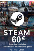 Steam Wallet - Gift Card 60€ (EUR)
