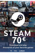 Steam Wallet - Gift Card 70€ (EUR)
