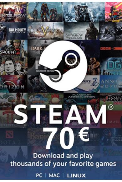 Steam Wallet - Gift Card 70€ (EUR)