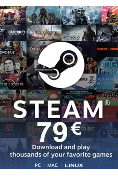 Steam Wallet - Gift Card 79€ (EUR)