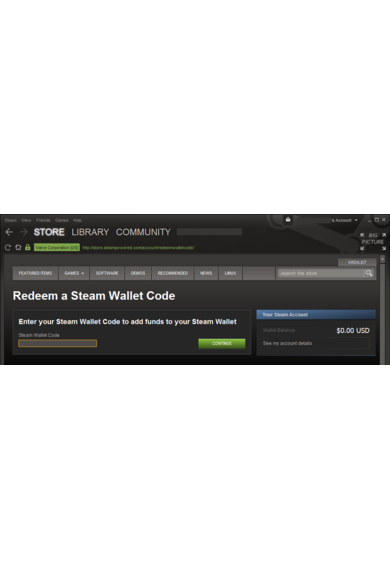 Steam Wallet - Gift Card 30€ (EUR)