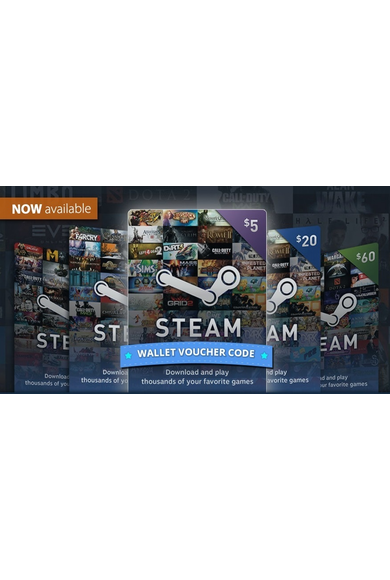 Steam Wallet - Gift Card $100 (USD)