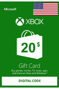 XBOX Live $20 (USD Gift Card) (USA)