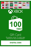 XBOX Live 100 (TRY Gift Card) (Western Asia)