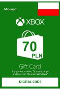 XBOX Live 70 (PLN Gift Card) (Poland)