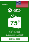 XBOX Live $75 (USD Gift Card) (USA)