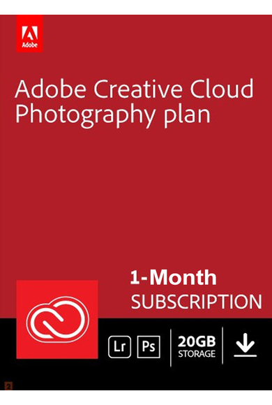 Adobe Creative Cloud Photography 20GB 1 Month