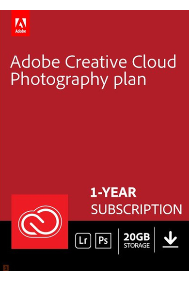 Adobe Creative Cloud Photography 20GB 1 Year