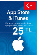 Apple iTunes Gift Card - 25 (TL) (Turkey) App Store