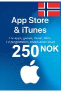 Apple iTunes Gift Card - 250 (NOK) (Norway) App Store