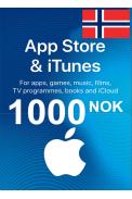 Apple iTunes Gift Card - 1000 (NOK) (Norway) App Store