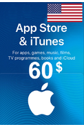 Apple iTunes Gift Card - $60 (USD) (USA/North America) App Store