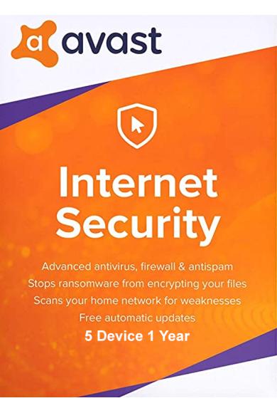 AVAST Internet Security - 5 Device 1 Year