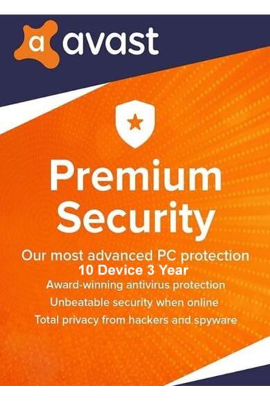Avast Premium Security - 10 Device 3 Year