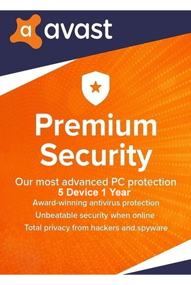 Avast Premium Security - 5 Device 1 Year