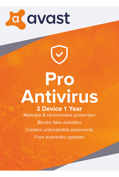 Avast Pro Antivirus - 3 Device 1 Year