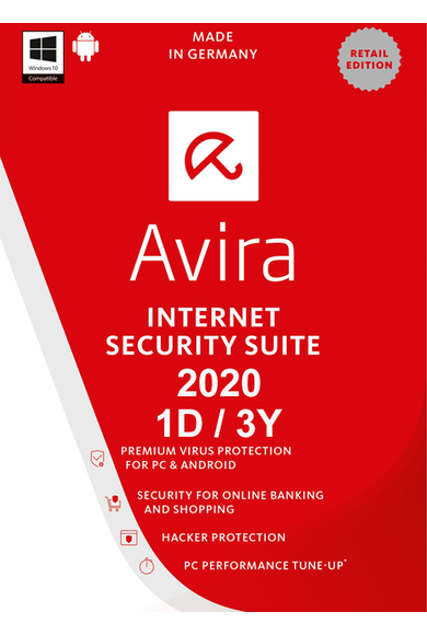 Avira Internet Security Suite 2020 - 1 Device 3 Year