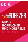 Deezer Gift Card 60€ (EURO)