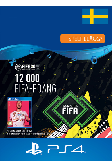 FIFA 20 - 12000 FUT Points (Sweden) (PS4)