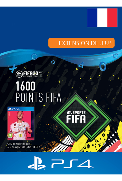 FIFA 20 - 1600 FUT Points (France) (PS4)