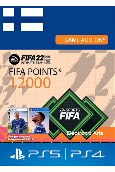 FIFA 22 - 12000 FUT Points (Finland) (PS4 / PS5)