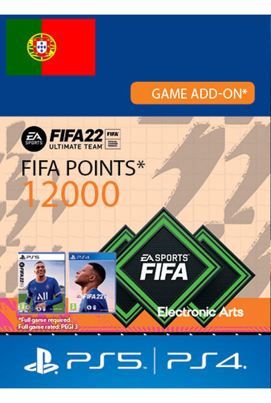 FIFA 22 - 12000 FUT Points (Portugal) (PS4 / PS5)