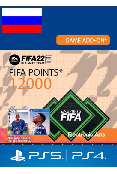 FIFA 22 - 12000 FUT Points (Russia - RU/CIS) (PS4 / PS5)