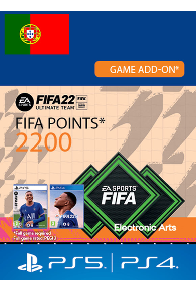 FIFA 22 - 2200 FUT Points (Portugal) (PS4 / PS5)
