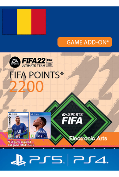 FIFA 22 - 2200 FUT Points (Romania) (PS4 / PS5)