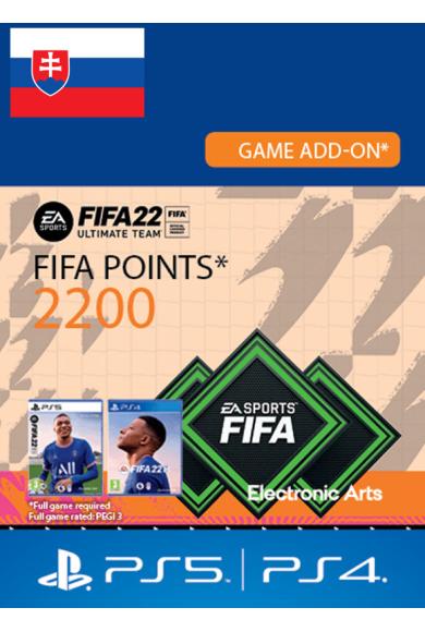 FIFA 22 - 2200 FUT Points (Slovakia) (PS4 / PS5)