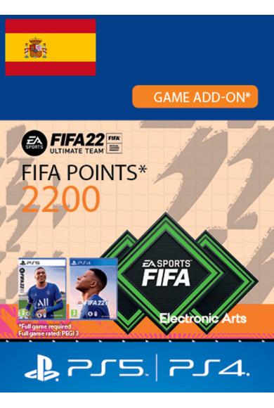 FIFA 22 - 2200 FUT Points (Spain) (PS4 / PS5)