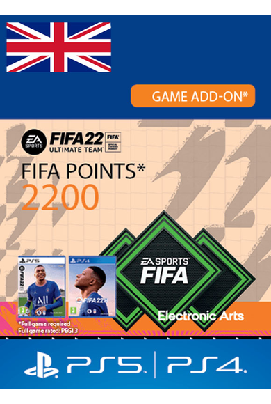 FIFA 22 - 2200 FUT Points (United Kingdom) (PS4 / PS5)