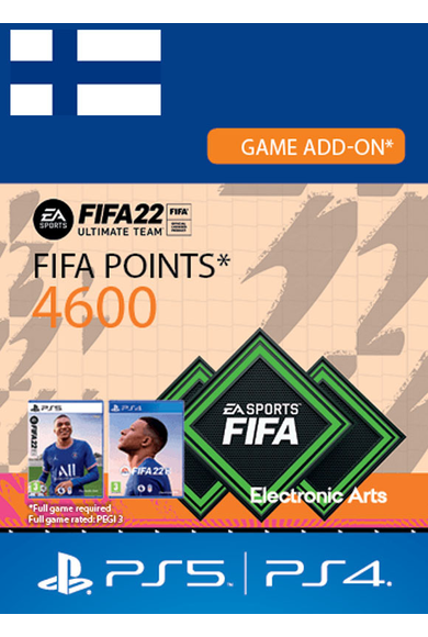 FIFA 22 - 4600 FUT Points (Finland) (PS4 / PS5)